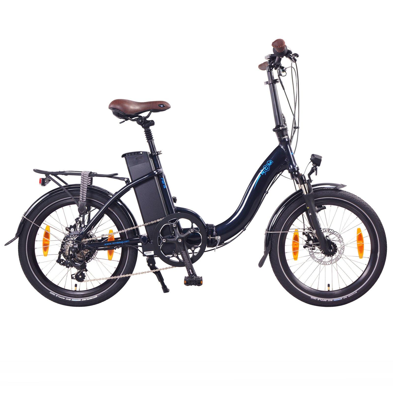 NCM Paris+ Folding E-Bike, 250W, 36V 19Ah 684Wh Battery