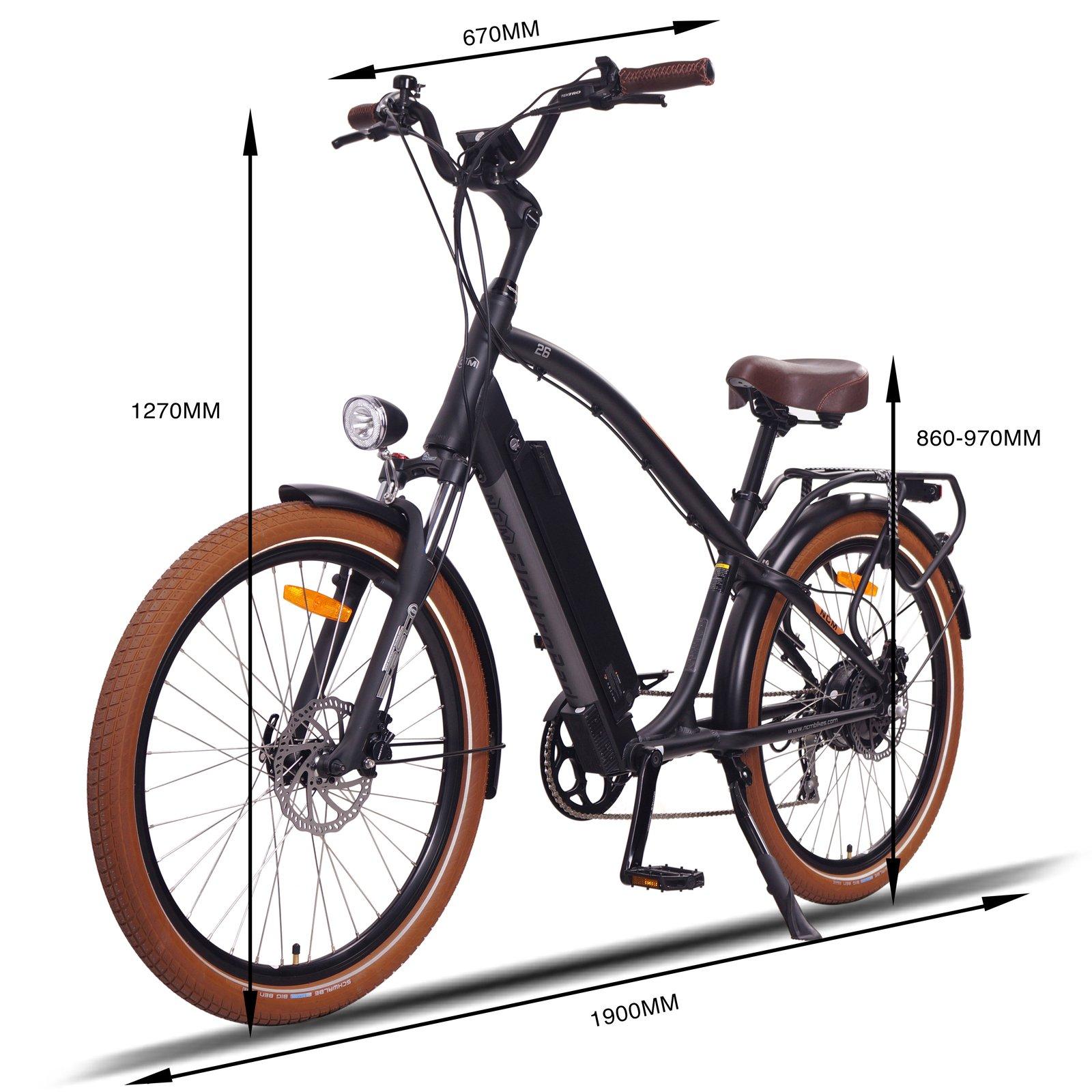 E-Bike Miami Cruiser, 48V 16Ah 768Wh [Black 26]